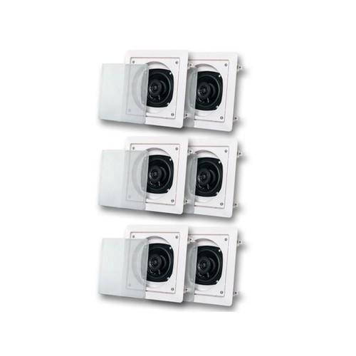 Acoustic Audio AS6S In Wall Speaker 3 Pair Pack 2 Way Home Theater 1200 Watt AS6S-3PR