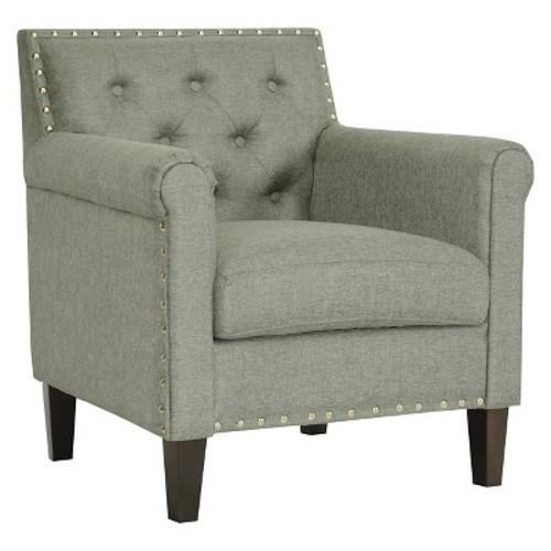 Thalassa Linen Modern Arm Chair Gray - Baxton Studio