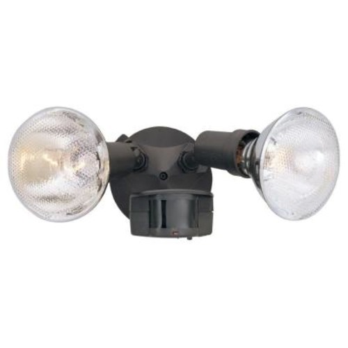 Designers Fountain Area & Security 2-Light Distressed Bronze Outdoor Incandescent Security Light with Motion Detectors