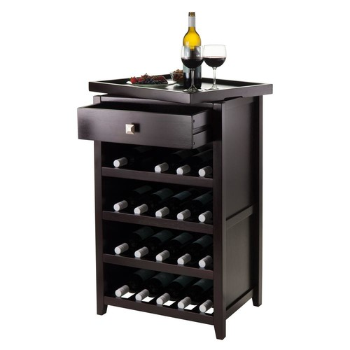 Winsome Wood Espresso Bar Cabinet