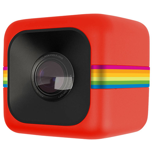 Polaroid - Cube Lifestyle HD Action Camera - Red