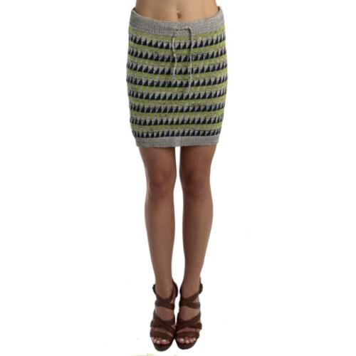 SUNO R13 Leather Mini Skirt In Black