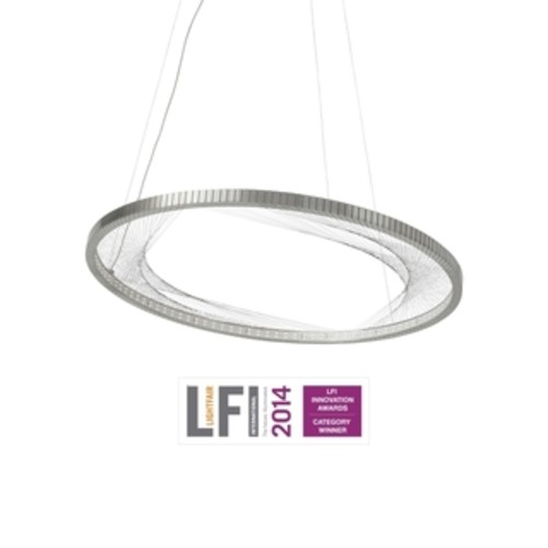 LBL Loft 1 Light Brushed Aluminum Exterior with White Interior with Black Cage Incandescent Pendant