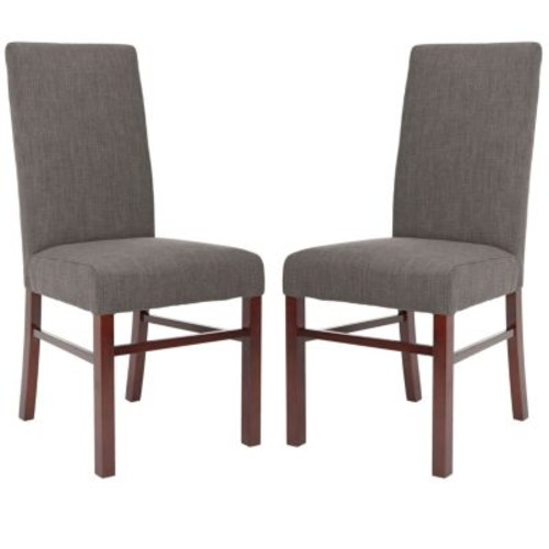 Safavieh Charcoal Brown Dining Chair (Set of 2)