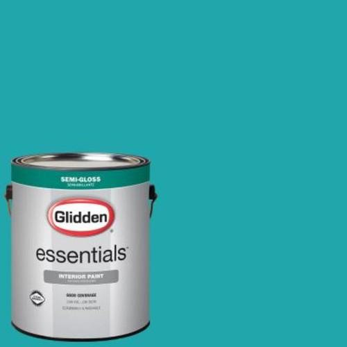 Glidden Essentials 1 gal. #HDGB14 Marine Blue Semi-Gloss Interior Paint