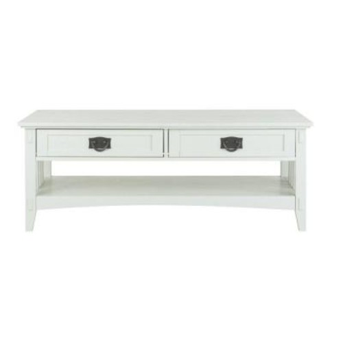 Home Decorators Collection Artisan White Coffee Table