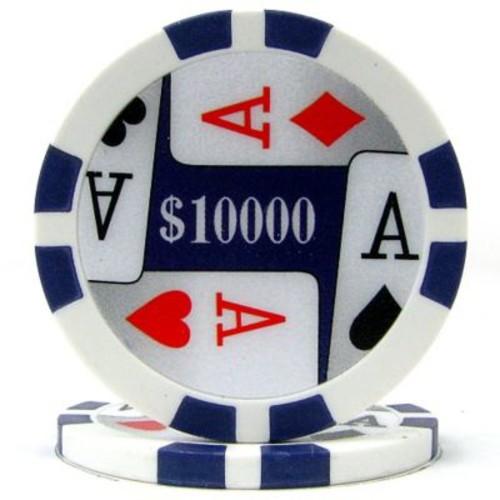 Trademark Poker 11.5g 4 Aces Premium $10000 Poker Chips, Purple, 100/Set