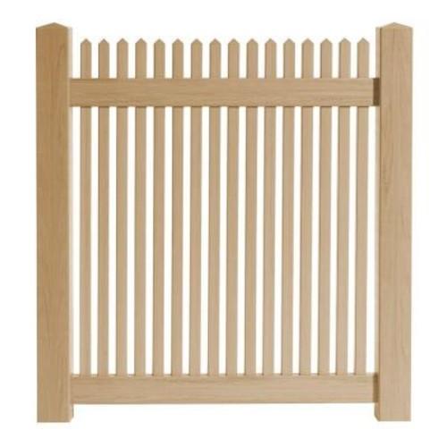 Veranda 4 ft. W x 4 ft. H Cedar Grove Natural Cedar Vinyl Picket Fence Gate