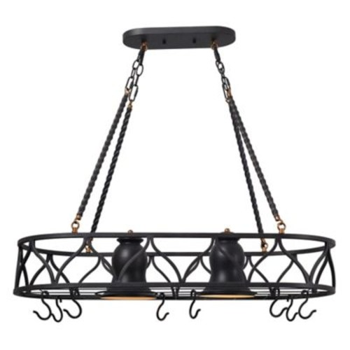 Kenroy Home Burns 2-Light Pot Rack in Bronze
