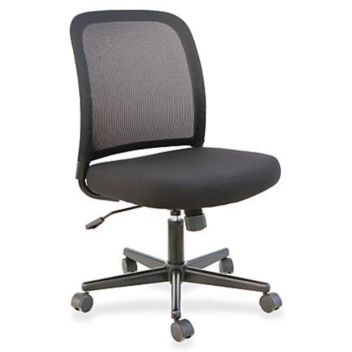Lorell Mesh Back Armless Mesh/Fabric Task Chair, Black