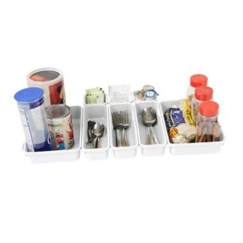 Mind Reader 8-Piece Interlocking Drawer Storage and Organizer Set