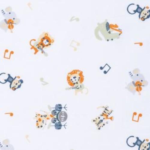 Trend Lab Safari Rock Band Multicolored Animal Fitted Crib Sheet
