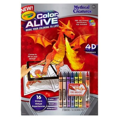 Crayola Color Alive Mythical Creatures