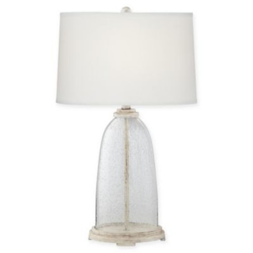 Pacific Coast Lighting Fillable 1-Light Seeded Glass Table Lamp