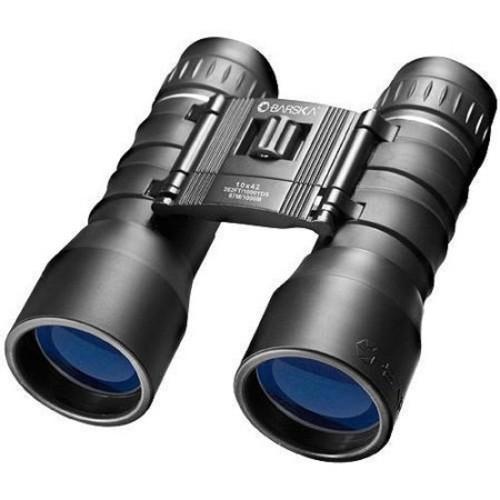 Barska 10x42 Lucid View Blue Lens Compact Binoculars, Black