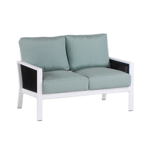 Parkview Woven Loveseat, Spa Blue