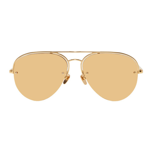Gold 543 Aviator Sunglasses