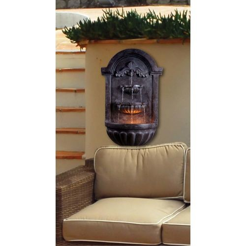Kenroy Home San Marco Plum Bronze Indoor/Outdoor Wall Fountain