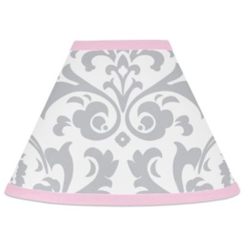Sweet Jojo Designs Elizabeth Lamp Shade in Pink/Grey