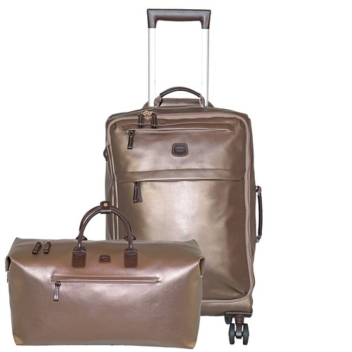 Bric's X Travel 21 International Carry On Spinner and Deluxe Weekender Duffel Set
