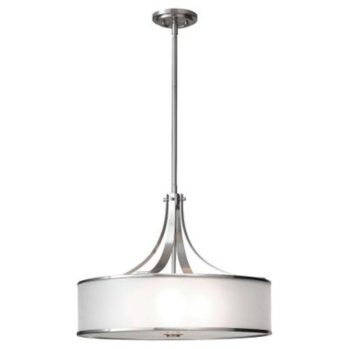 Feiss Casual Luxury 4-Light Brushed Steel Large Pendant
