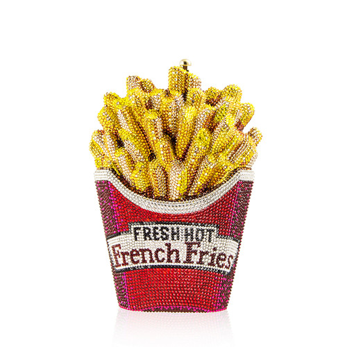 Fresh Hot French Fries Crystal Minaudiere Clutch Bag