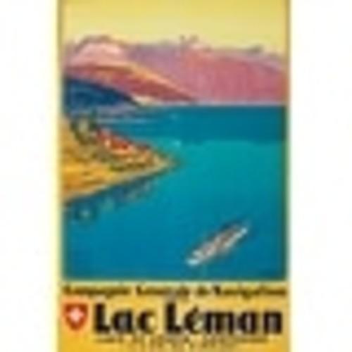 Switzerland - Lac Leman Muller Vintage Ad (Acrylic Wall Clock)