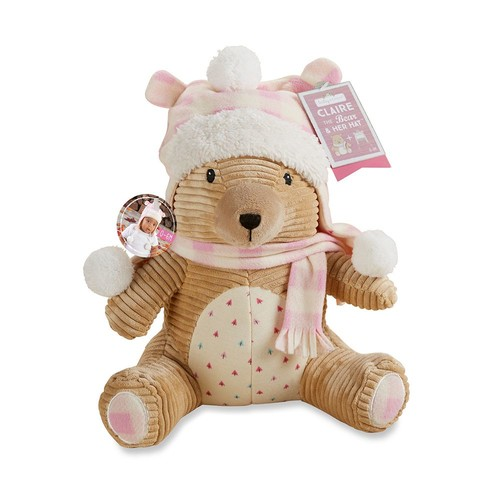 Baby Aspen Claire The Bear Plus Hat For Baby Gift Set