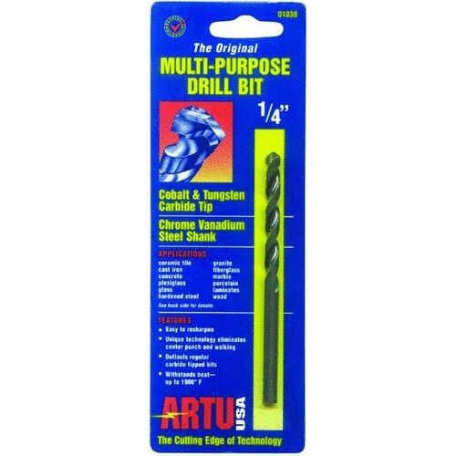 ARTU USA 01070 Multi Purpose Drill Bit, 1/2-Inch x 6-Inch [1/2-Inch x 6-Inch]