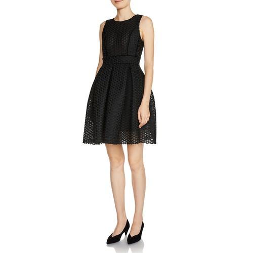 MAJE Rosianne Jacquard Fit-And-Flare Dress