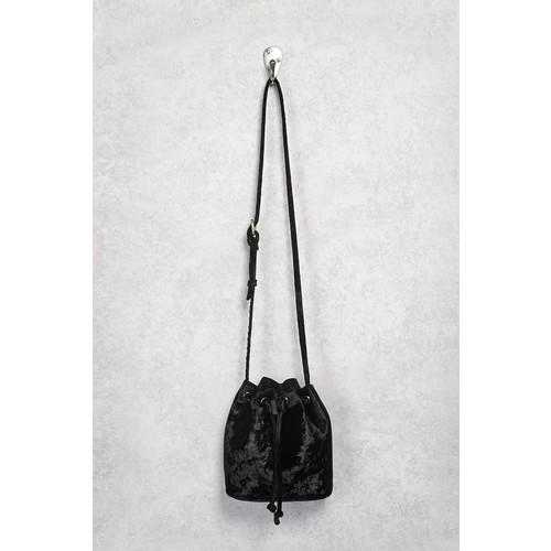 Velvet Crossbody Bucket Bag