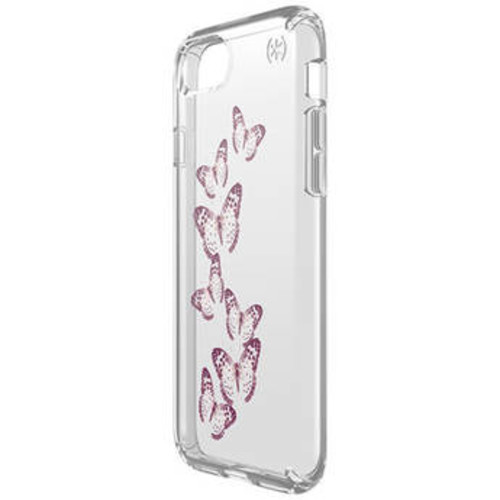 Presidio Clear Print Case for iPhone 7 (Brilliant Butterflies Rose Gold/Clear)