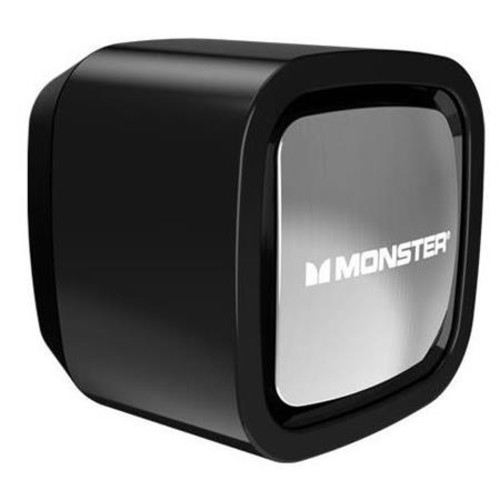 Monster Cable Mobile Single USB Port Wall Charger, Black & Chrome