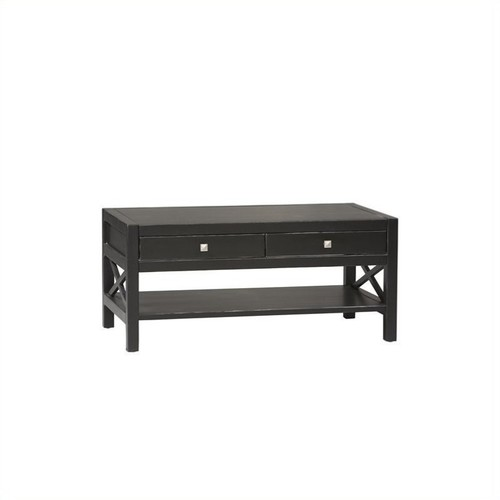 Linon Anna Collection Coffee Table in Antique Black