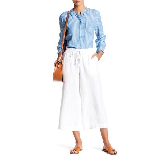 Drawstring Crop Linen Pants