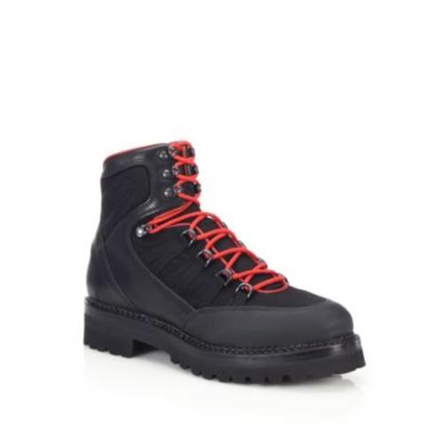 Vachetta Leather & Nylon Hiking Boots
