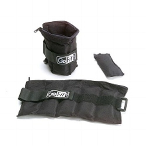 GoFit Heavy-Duty Adjustable Ankle Weights (Pair)