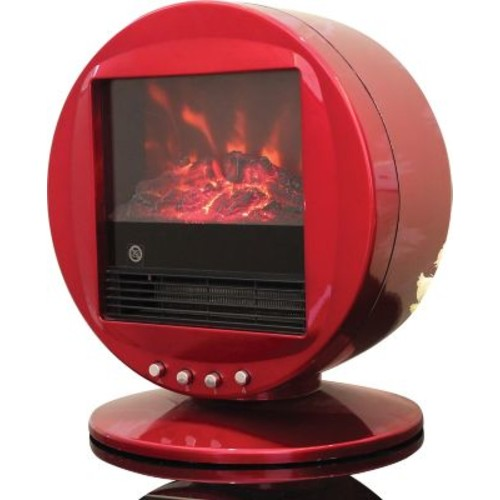 Himalayan Heat 1500W Electric Fireplace Heater, Red