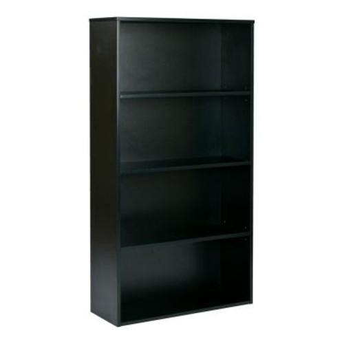 Pro-Line II Prado Black Adjustable Open Bookcase