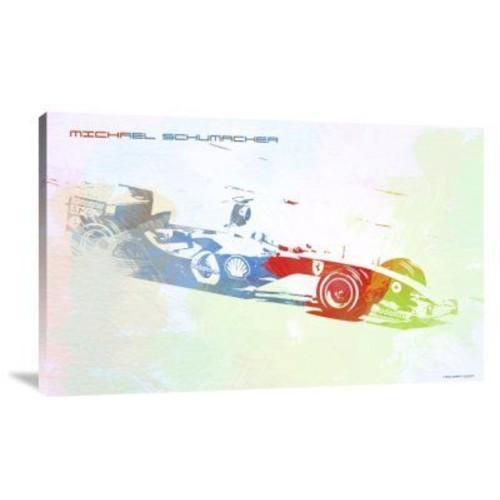 Naxart 'Michael Schumacher' Graphic Art Print on Canvas; 14'' H x 22'' W x 1.5'' D