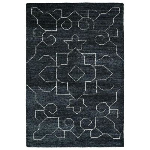 Kaleen Solitaire Charcoal 4 ft. x 6 ft. Area Rug
