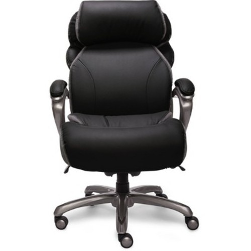 Big & Tall Smart Layers Premium Elite Executive Chair with Air-Bliss Black Multi-Tone-Leather - Serta