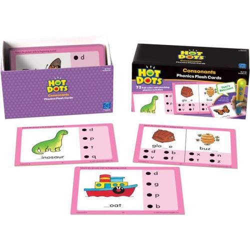 Educational Insights Hot Dots Consonants Flash Cards