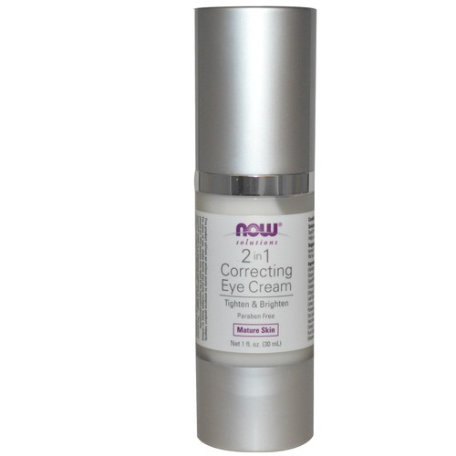 NOW Foods Solutions 2 in 1 Correcting Eye Cream -- 1 fl oz