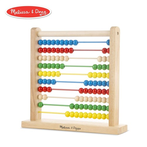 Melissa & Doug Abacus - Classic Wooden Educational Counting Toy With 100 Beads [Standard]