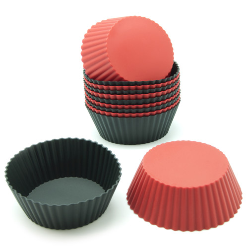 Freshware 12-Pack Round Silicone Reusable Baking Cup