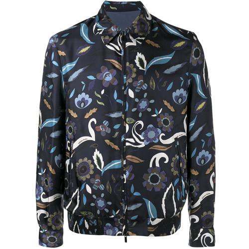 reversible floral print jacket