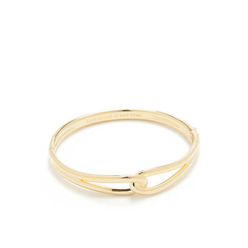 kate spade new york Gold-Tone Get Connected Loop Bangle Bracelet