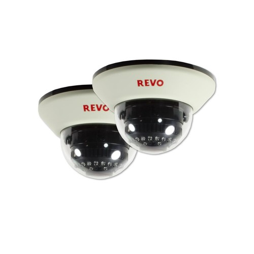Revo 1200 TVL Indoor Dome Surveillance Camera with 100 ft. Night Vision (2-Pack)
