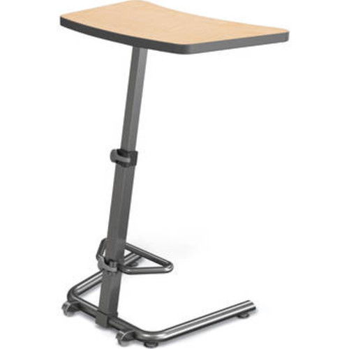 Realspace Magellan Pneumatic Stand Up HeightAdjustable Desk Gray